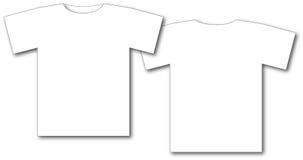 Zwei weiße T-Shirts Stockbilder