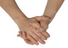 Zwei weibliche Hände Stockbild