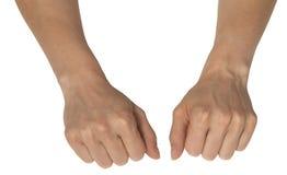Zwei weibliche Hände Lizenzfreies Stockfoto