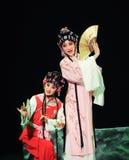 Zwei weibliche Peking-Operenausführende Lizenzfreie Stockfotografie