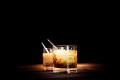Zwei weiße russische Cocktails Stockfoto