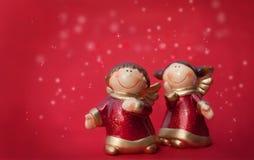 Zwei Weihnachtsengel Stockbilder