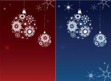 Zwei Weihnachtshintergründe. Stockbilder