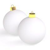 Zwei Weihnachtskugeln Lizenzfreies Stockfoto