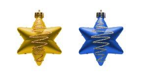 Zwei Weihnachtsspielwaren Lizenzfreie Stockfotografie