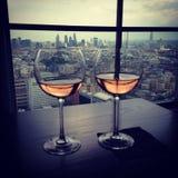 Zwei Wein-Gläser Lizenzfreies Stockfoto