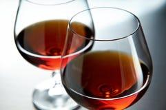 Zwei Weinbrandgläser Stockfotografie