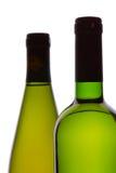 Zwei Weinflaschen stockbild