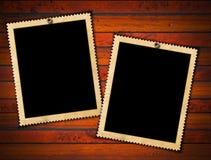 Zwei Weinlese-Foto-Felder stock abbildung