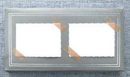 Zwei Weinlese unbelegte photoframes Lizenzfreies Stockbild