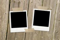 Zwei Weinlesefotofelder Lizenzfreie Stockfotografie