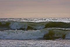 Zwei Wellen Stockfotos