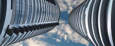 Zwei Wolkenkratzer Stockbild