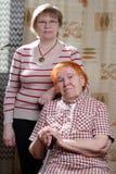 Zwei womans lizenzfreies stockfoto