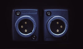 Zwei XLR-Mikrofon-Verbindungsstücke Lizenzfreie Stockfotografie