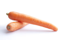 zwei yound Karotten Stockfoto