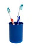 Zwei Zahnbürsten Lizenzfreies Stockbild
