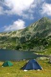 Zwei Zelte stockbild