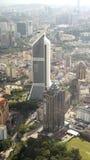 Zwei zentrale Kontrolltürme in im Stadtzentrum gelegenem Kuala Lumpur Lizenzfreie Stockfotos