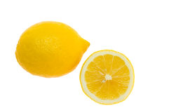 Zwei Zitronen getrennt Lizenzfreies Stockfoto