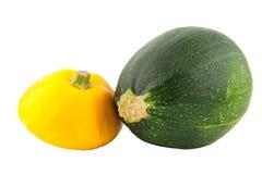 Zwei Zucchini Lizenzfreie Stockbilder