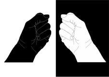 Zwei zusammengepreßte Fäuste stockfotografie