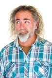 Zweifelhafter Mann, der eine Wahl trifft Lizenzfreie Stockbilder
