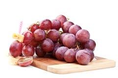 Zweig der roten Trauben Stockfoto