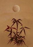 Zweig eines Bambusses in der alten chinesischen Art Lizenzfreie Stockfotos