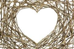 Zweige in der Liebes-Form Lizenzfreies Stockbild