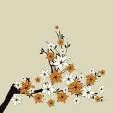 Zweige mit Blumen vektor abbildung