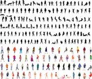 Zweihundert Frauenvektorillustrationen stock abbildung