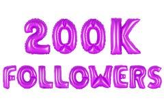 Zweihundert tausend Nachfolger, purpurrote Farbe Stockfotos