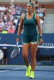 Zweimal Grand Slam-Meister Victoria Azarenka von Weißrussland in der Aktion während US Open 2015 Stockbild