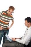 Zweipersonen während der Arbeit Lizenzfreie Stockfotografie