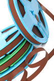 Zweispulenmagnetband für Tonaufzeichnungen Stockbild