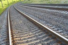 Zweispurige Eisenbahn stockfotos