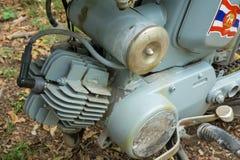 Zweitaktmotor circa mittleren von 1960 klassisch und von Weinlese Yamaha-Motorrad von Japan stockfoto