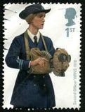 Zweite BRITISCHE Briefmarke des Offizier-WRNS Stockfotos