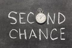 Zweite Chance Lizenzfreies Stockbild