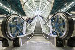 Zweite Linie des Warschau-U-Bahnsystems Lizenzfreie Stockbilder