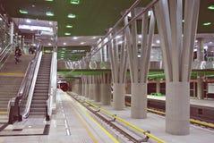 Zweite Linie des Warschau-U-Bahnsystems Stockbilder