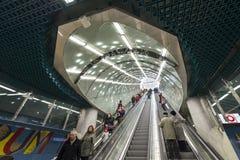 Zweite Linie von Warschau-U-Bahn Stockfotos