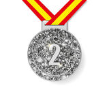 Zweite Platz-Silbermedaille Stockfotografie
