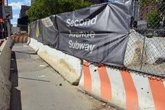 Zweiter Alleen-U-Bahn-Bau, NYC Lizenzfreies Stockfoto