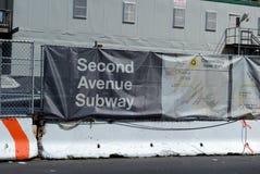 Zweiter Alleen-U-Bahn-Bau, NYC Stockbild