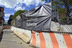 Zweiter Alleen-U-Bahn-Bau, NYC Stockfotografie
