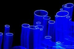 An zweiter Stelle blaue helle Schlange Lizenzfreies Stockfoto