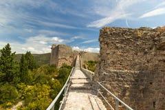 An zweiter Stelle längste Weltwände Mali Ston-Kleinstadt, Kroatien Lizenzfreies Stockbild