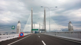 An zweiter Stelle Penang-Brücke Stockfoto